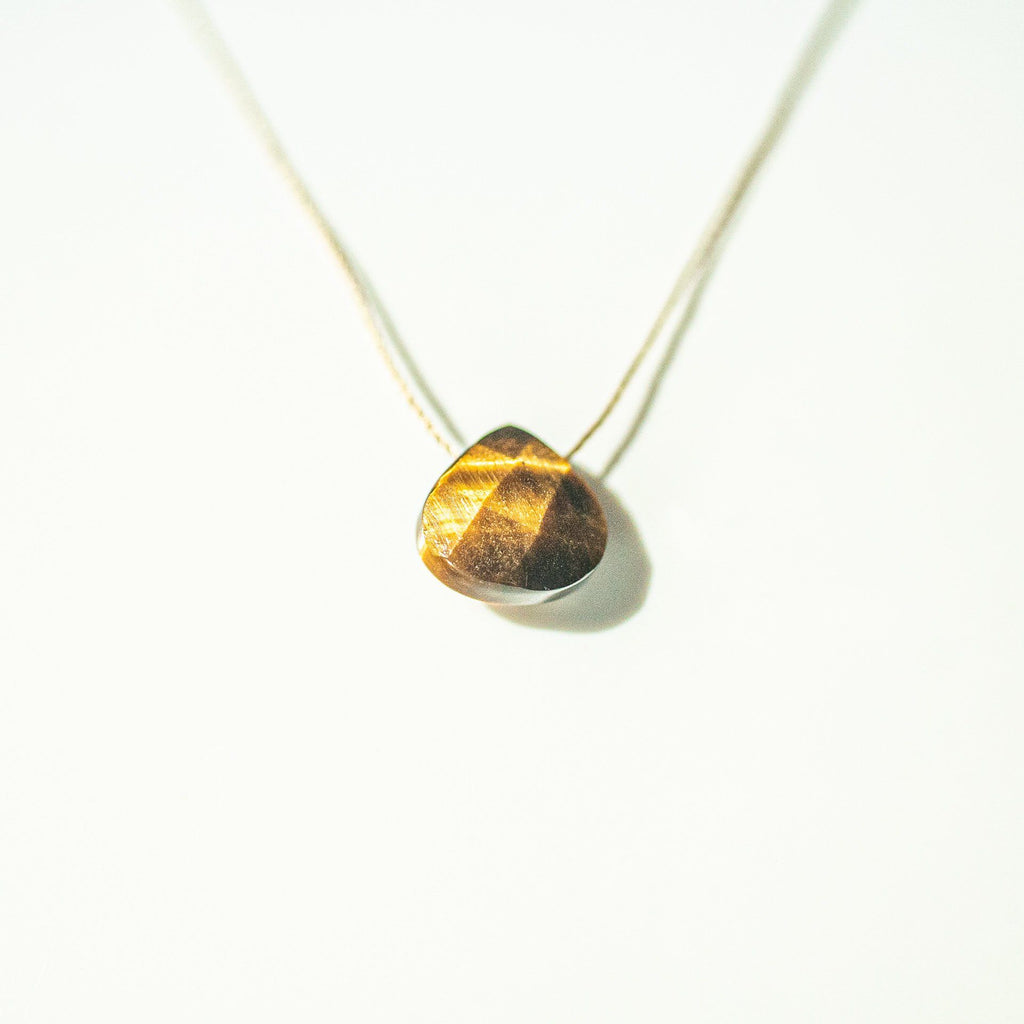 Tiger's Eye Teardrop Necklace (I AM GROUNDED) - House of Intuition