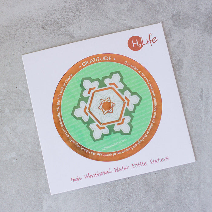 Gratitude Sacred Geometry Sticker - House of Intuition