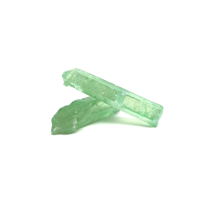 Green Singing Quartz Raw Point