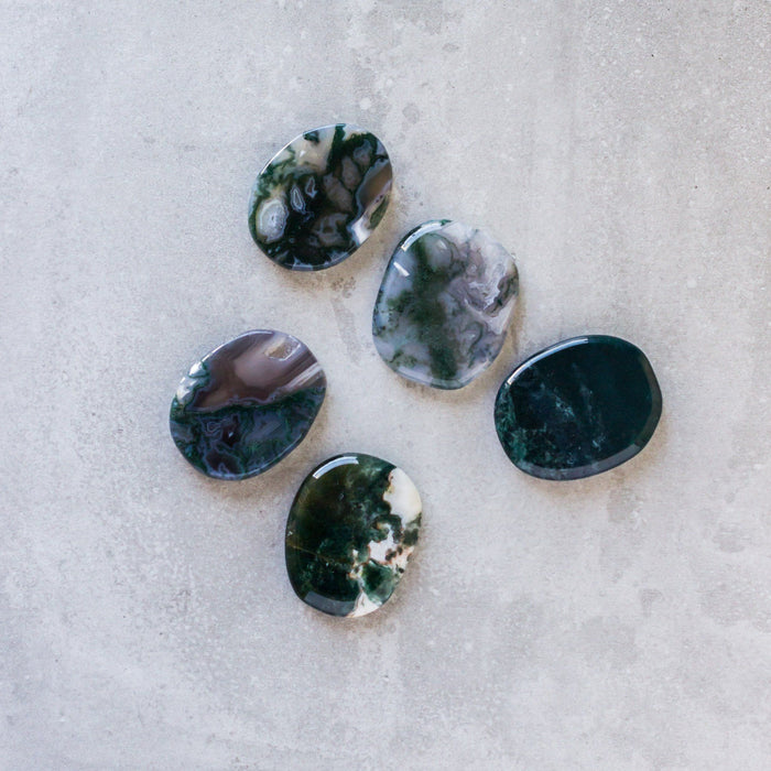 Moss Agate Medallions - House of Intuition