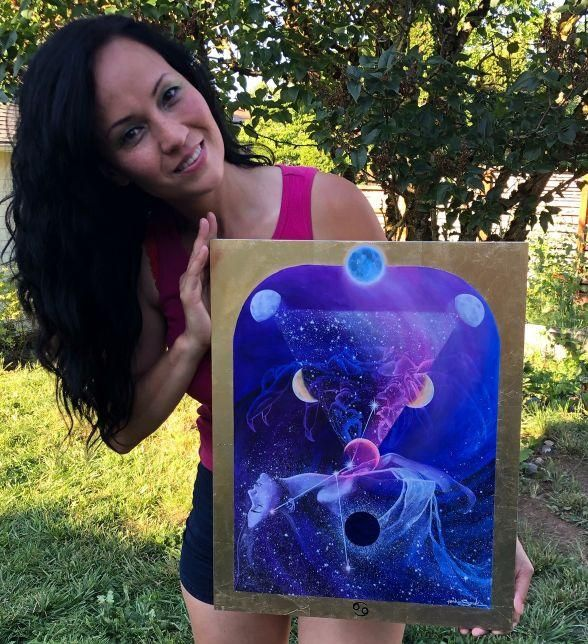 Cancer Zodiac Original Painting and Print by Tashina Suzuki - House of Intuition