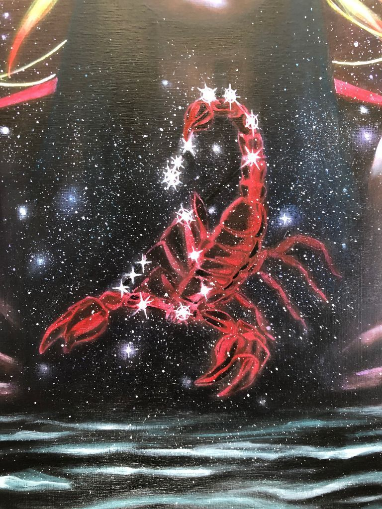 Scorpio Zodiac Original Painting and Print by Tashina Suzuki