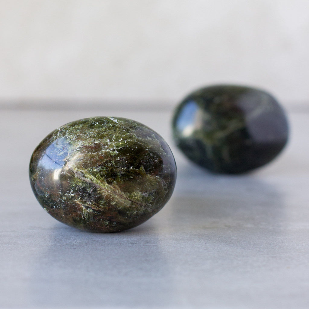 Green Apatite Palm Stones - House of Intuition