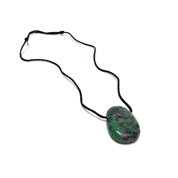 Ruby Zoisite Nylon Cord Necklace - House of Intuition
