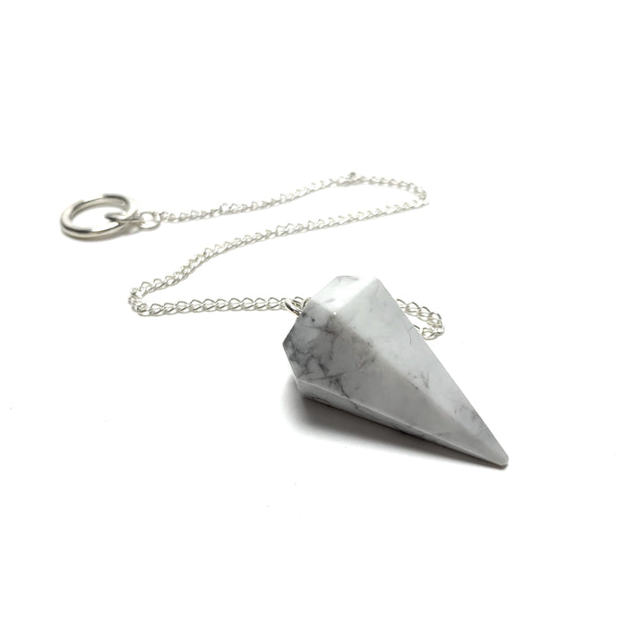 Howlite Pendulum - House of Intuition