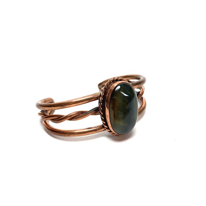 Tigers Eye Copper Cuff Bracelet - House of Intuition