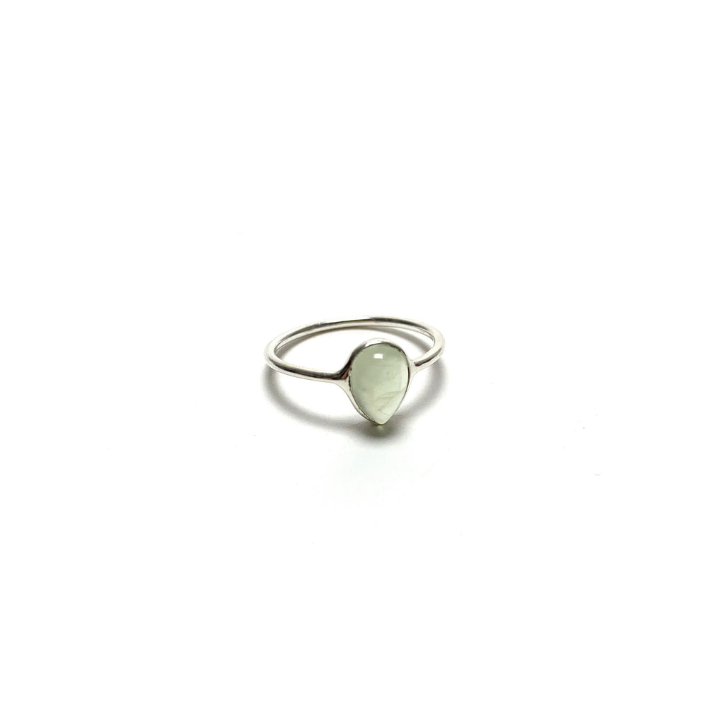 Green Jade Silver Ring - House of Intuition