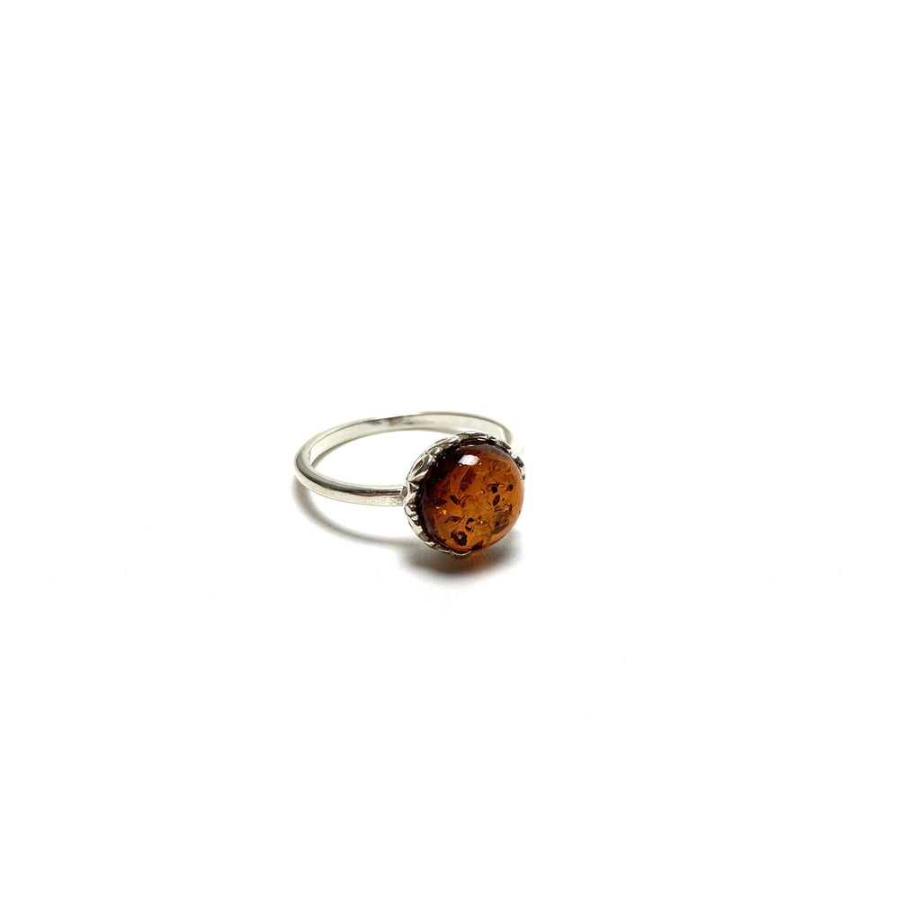 Amber Silver Ring - House of Intuition