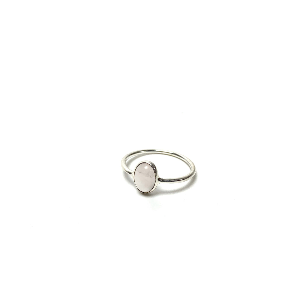 Rose Quartz Silver Ring - House of Intuition