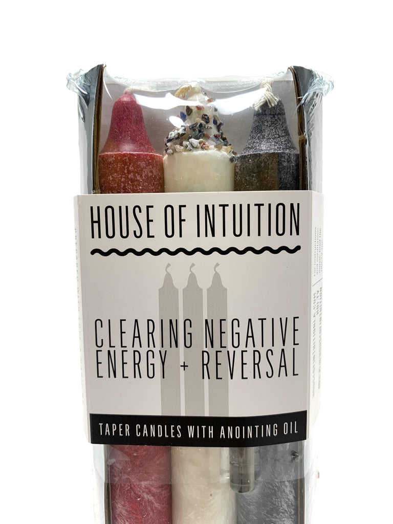 Taper Intention Candle Set - Clearing Negative Energy and Reversal - House of Intuition