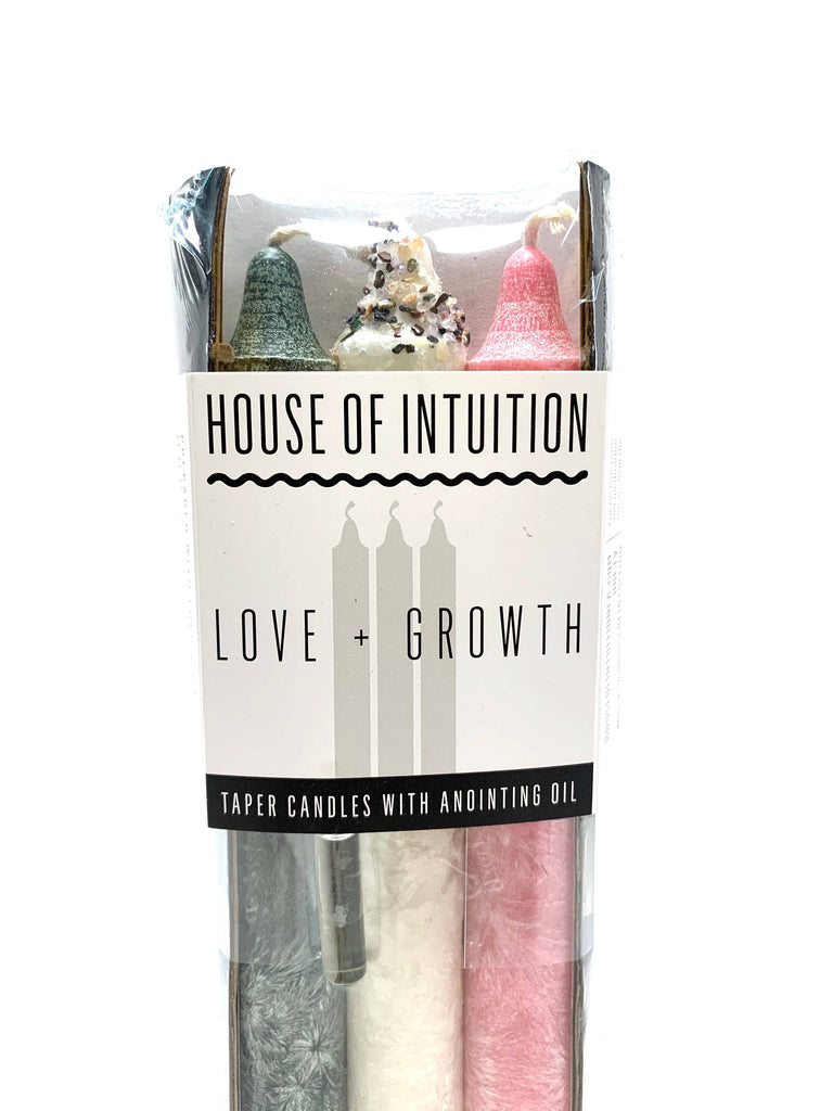 Taper Intention Candle Set - Love and Growth - House of Intuition