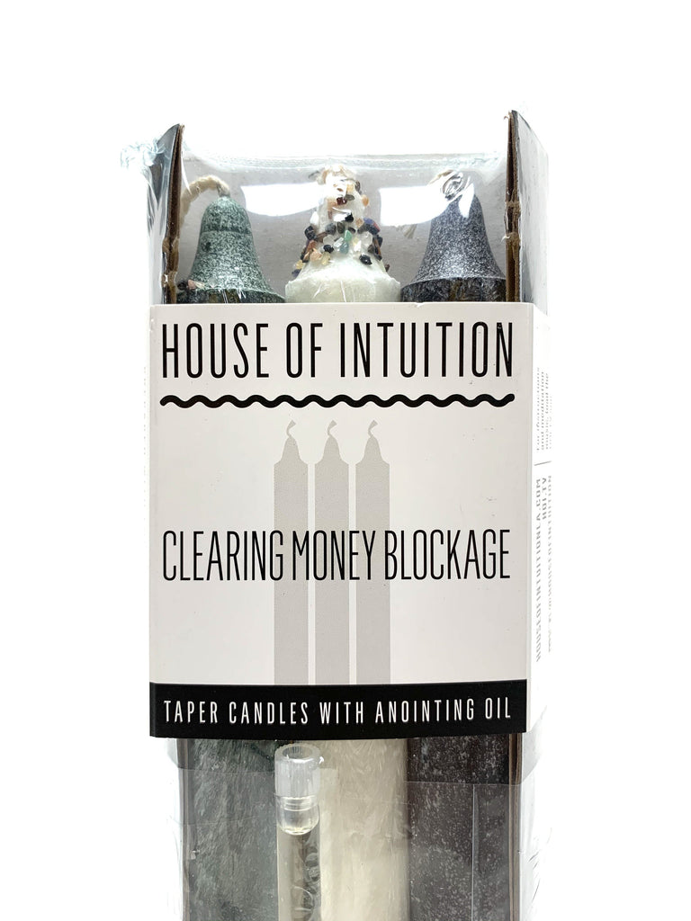 Taper Intention Candle Set - Clearing Money Blockage - House of Intuition