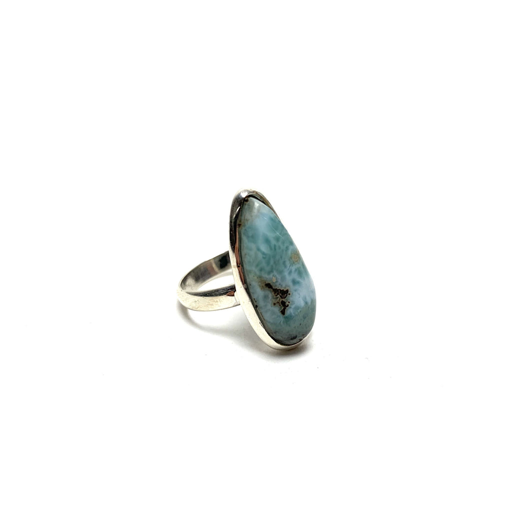 Larimar Silver Ring - House of Intuition