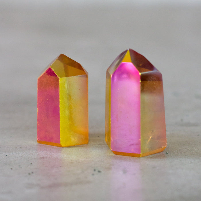 Sunset Opal Aura Quartz Tower Point - House of Intuition