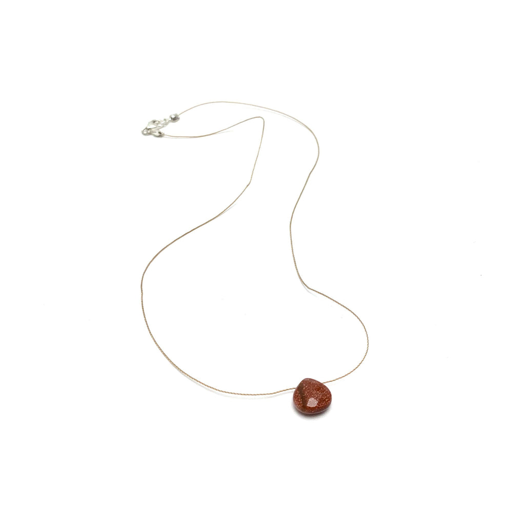Goldstone Teardrop Necklace (I AM CONFIDENT)