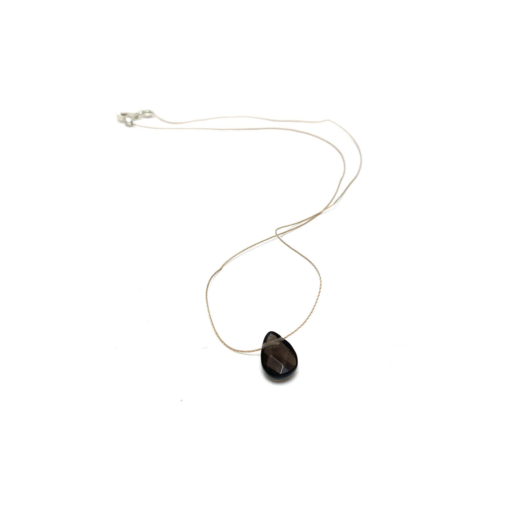 Smoky Quartz Teardrop Necklace (I AM SUPPORTED)