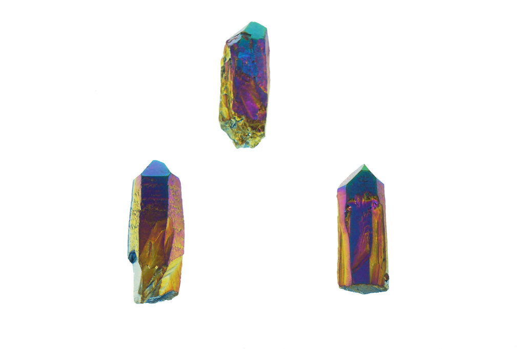 Titanium Aura Quartz Raw Point - House of Intuition