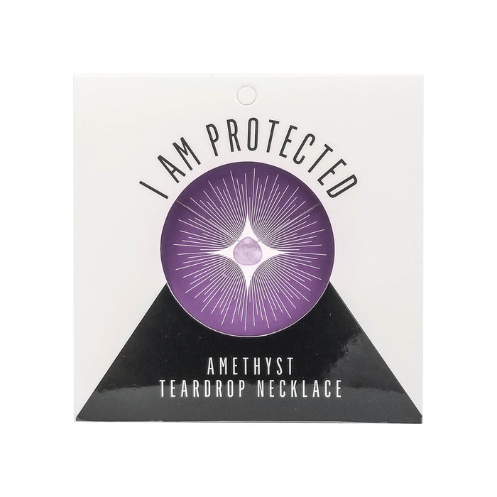Amethyst Teardrop Necklace (I AM PROTECTED) - House of Intuition