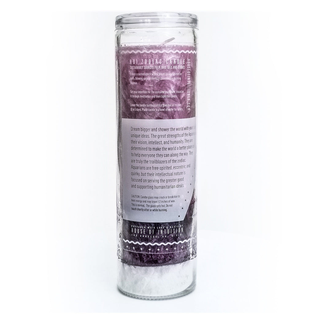 HOI Aquarius Zodiac Candle - House of Intuition