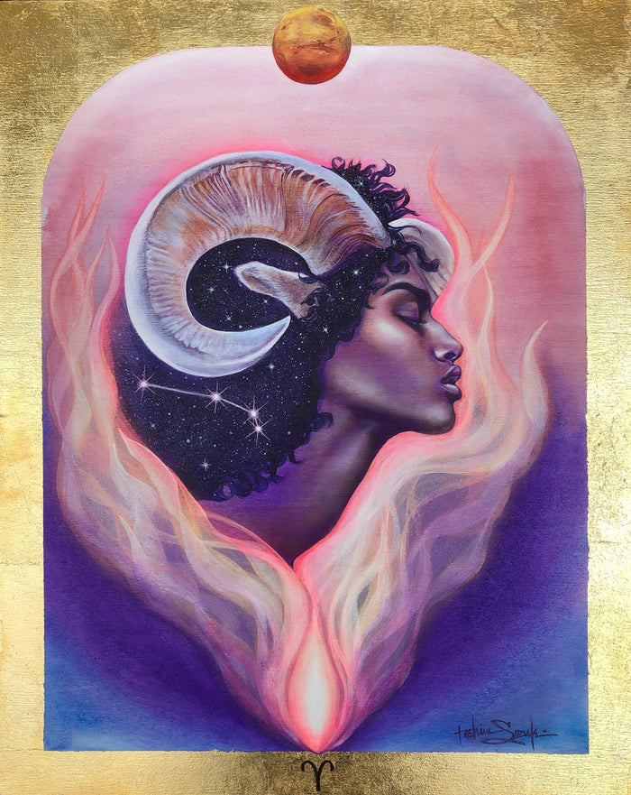 Aries Zodiac Original Painting and Print by Tashina Suzuki - House of Intuition