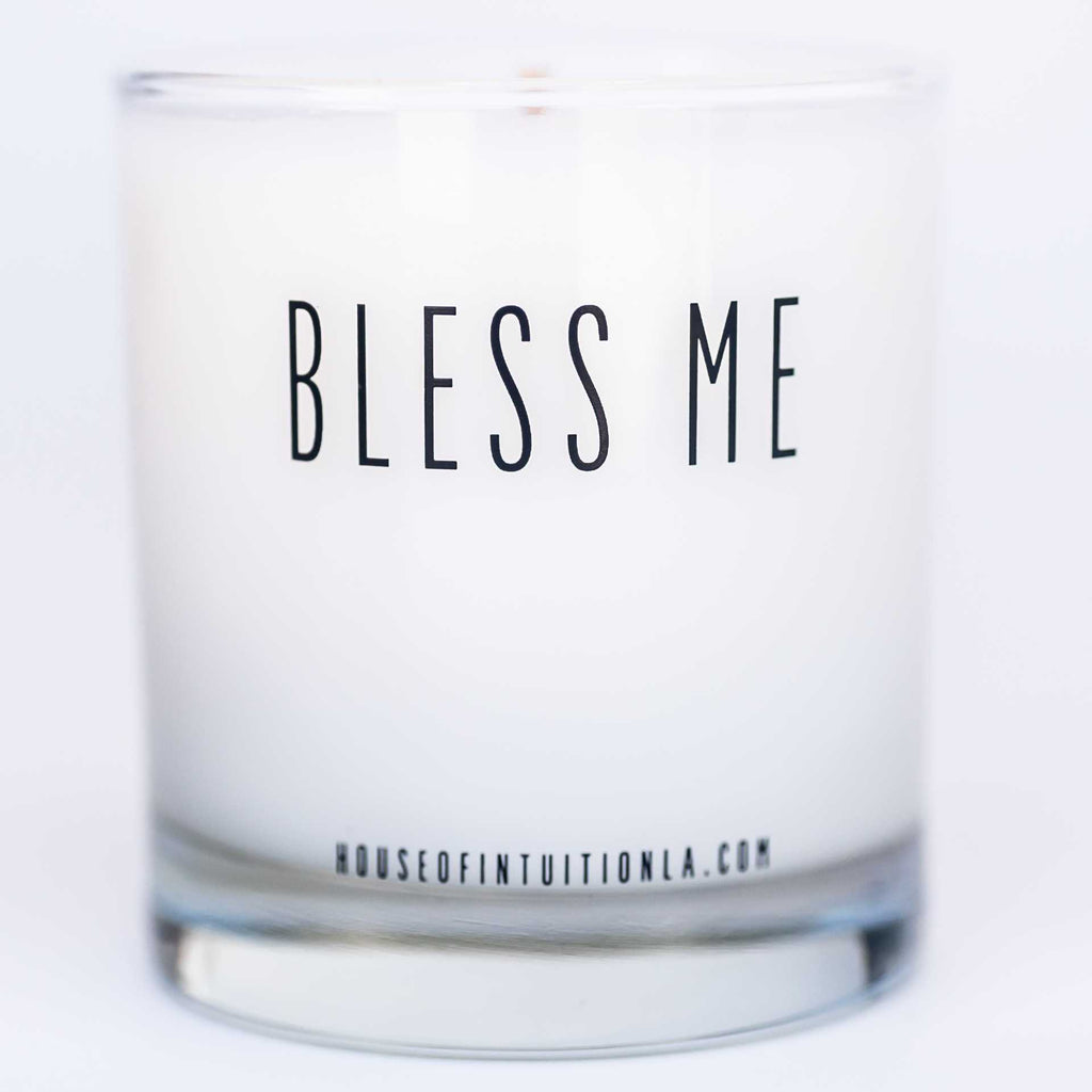 """BLESS ME with LOVE FOR THYSELF"" Affirmation Soy Candle - House of Intuition"