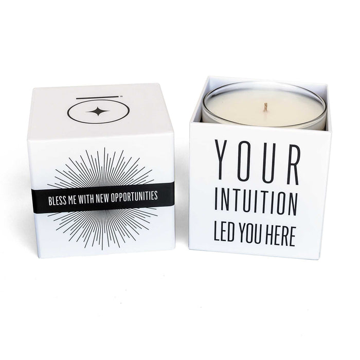 """BLESS ME with NEW OPPORTUNITIES"" Affirmation Soy Candle - House of Intuition"