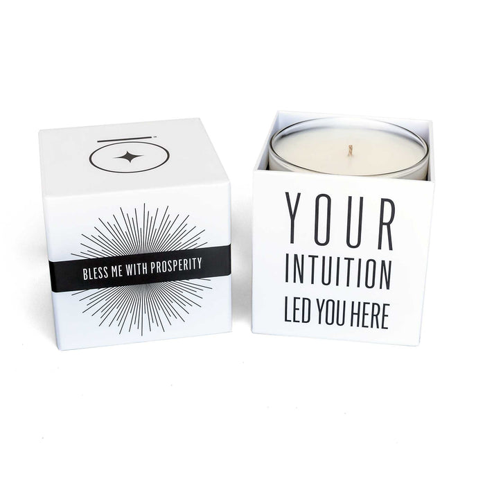 """BLESS ME with PROSPERITY"" Affirmation Soy Candle - House of Intuition"