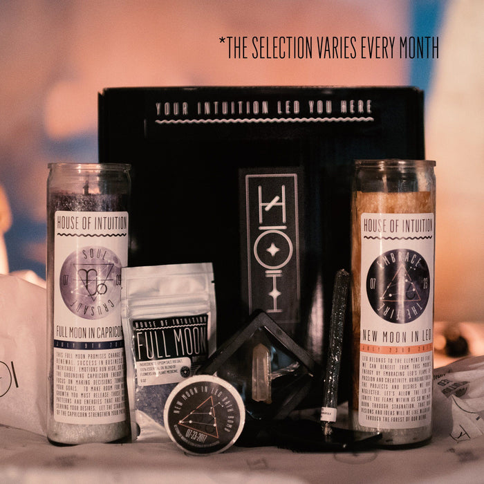 House of Intuition Moon Magic Candle Box Subscription with Mia Astral's New Moon Candle