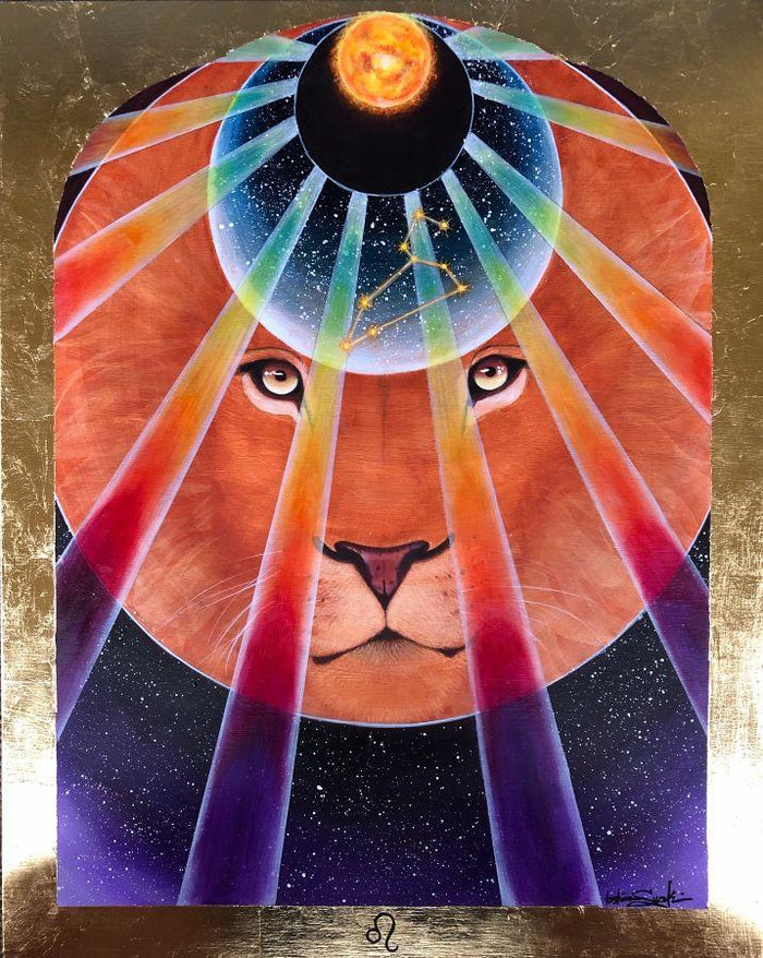 Leo Zodiac Original Painting and Print by Tashina Suzuki - House of Intuition