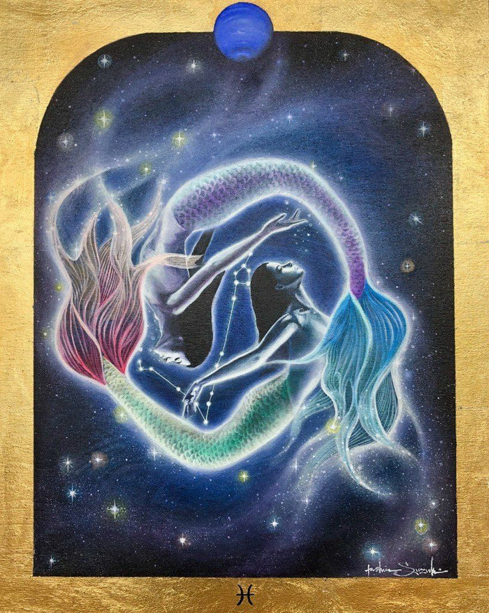 Pisces Zodiac Original Painting and Print by Tashina Suzuki - House of Intuition