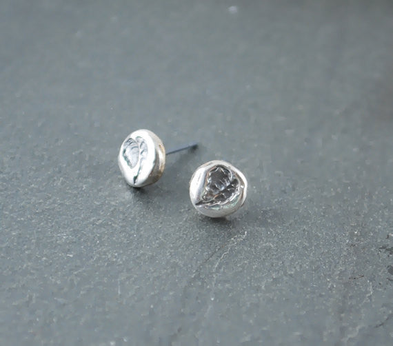 Leaf Stud Earrings - Titanium Post - Prairie Coast Art