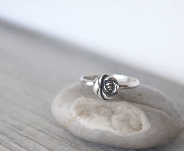 Sterling Silver Rose Ring - Prairie Coast Art