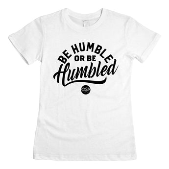 Humble White & Black Women's T-Shirt
