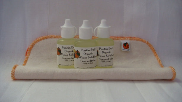 Punkin Butt Organic Wipes Solution