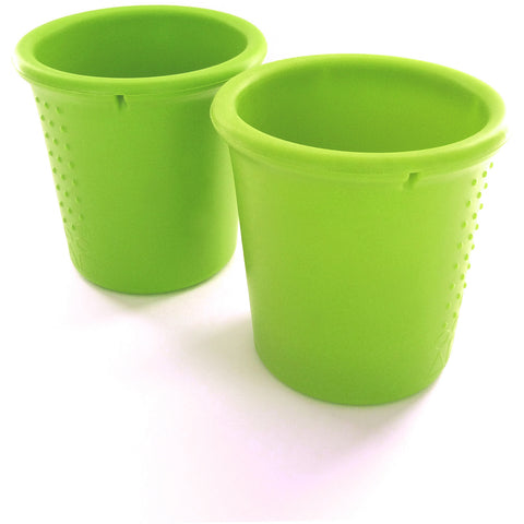 Silikids Silicone Cups - Lime 2 Pack