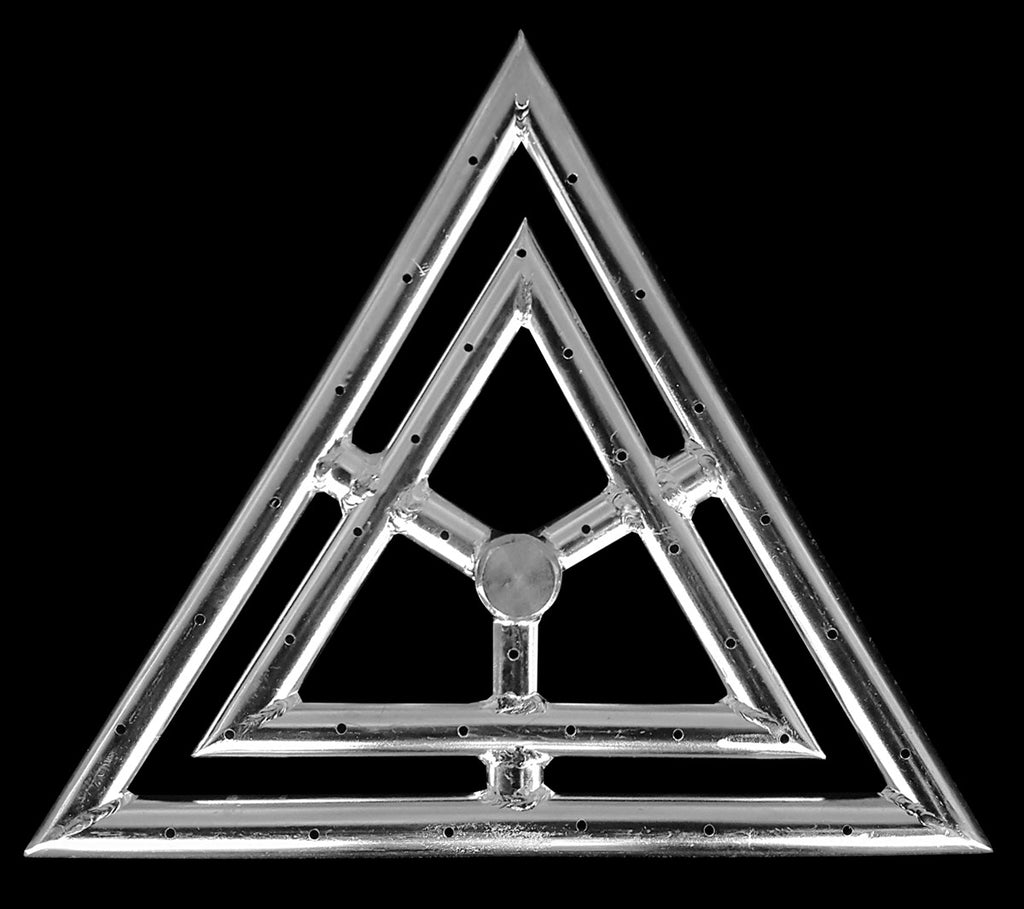 Stainless Steel Triangle Fire Rings - 12 Inch