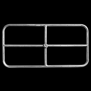 "Stainless Steel Rectangle Fire Pit Ring - 24"" x 12"""