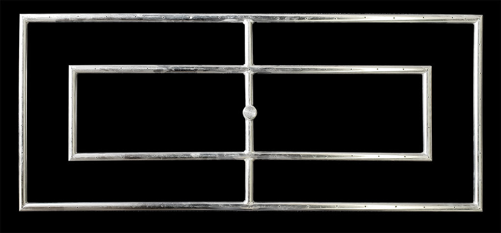 "42"" x 18"" Rectangular High Capacity 3/4 Inch Fire Ring by Diamond Fire Glass"