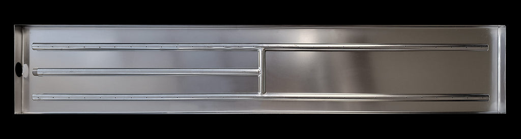 48 Inch Stainless Steel H-Burner with Pan