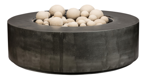 Block Infinity Precast Concrete Fire Pit by Diamond Fire Glass