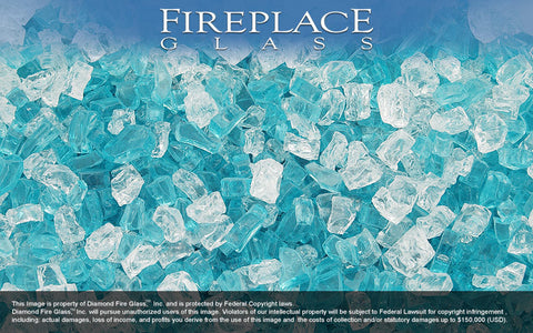 Aqua Dolce Premixed Fireplace Glass