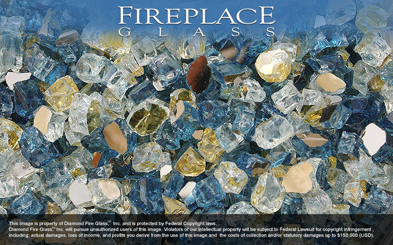 Atlantis Premixed Fireplace Glass