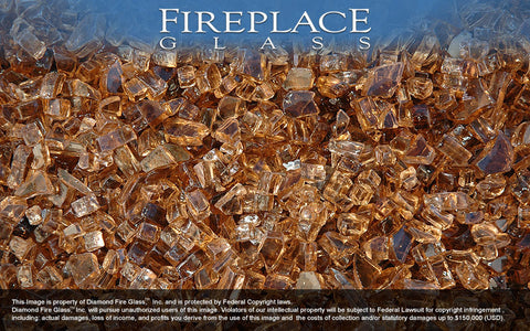 Copper Crystal Fireplace Glass