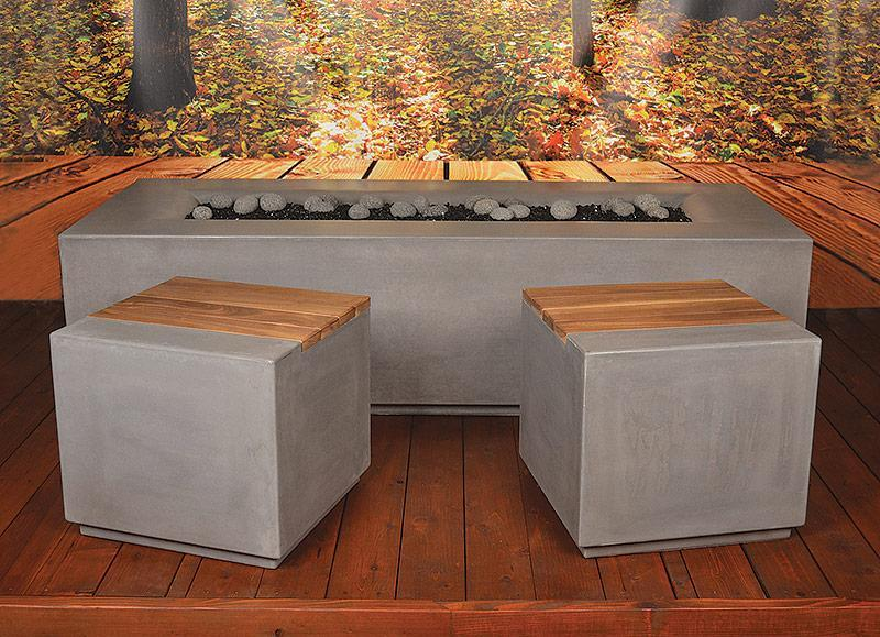 Aura Rectangle Fire Pit Table