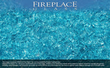 Bahama Blue Crystal Fireplace Glass