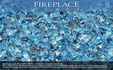 Bali Blue Reflective Crystal Fireplace Glass