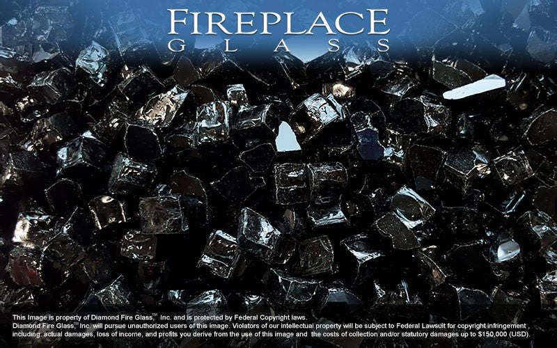 Black Nugget Fireplace Glass