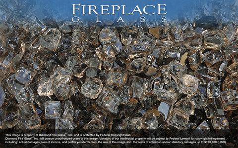 Bronze Nugget Fireplace Glass