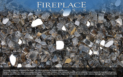 Bronze Reflective Crystal Fireplace Glass