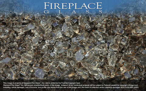Bronze Crystal Fireplace Glass